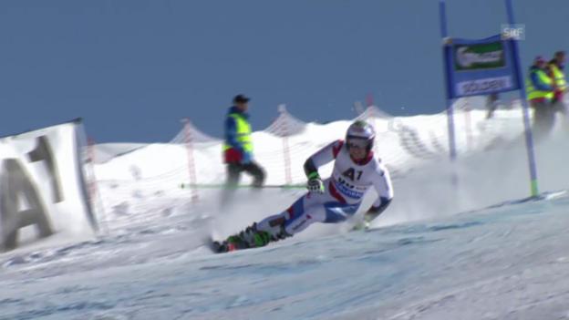 Video «Ski alpin: Riesenslalom in Sölden, 2. Lauf von Justin Murisier» abspielen