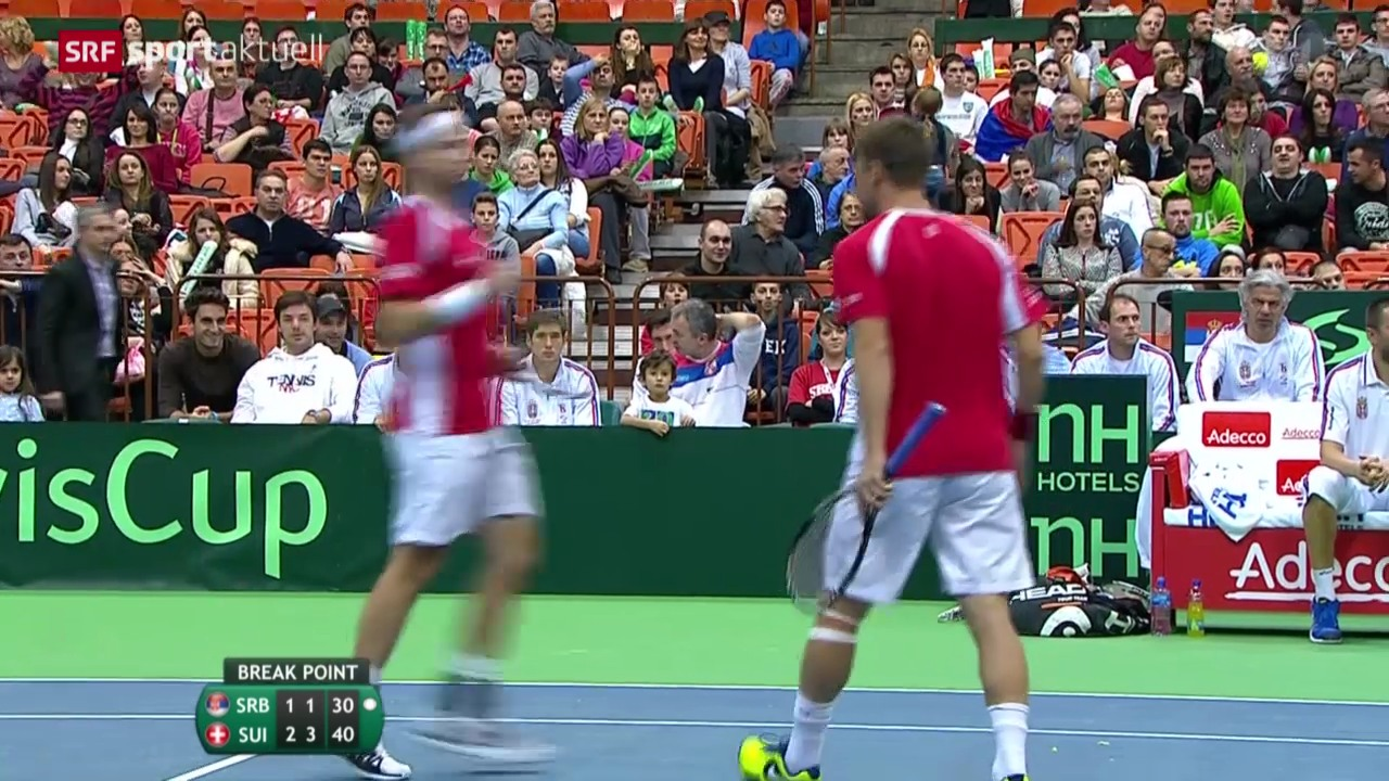 Tennis: Davis Cup, Serbien - Schweiz, Doppel