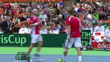 Video «Tennis: Davis Cup, Serbien - Schweiz, Doppel» abspielen