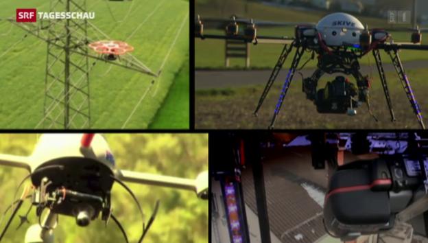 Video «Immer mehr Drohnen am Schweizer Himmel» abspielen