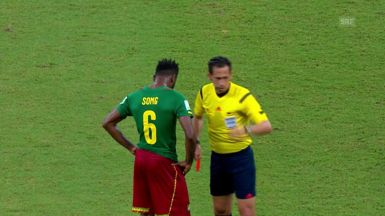Aussetzer der Kamerun-Spieler gegen Kroatien