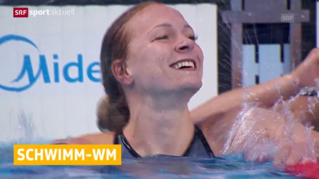 Video «Schwimmen: Neuer Weltrekord über 100 m Delfin» abspielen