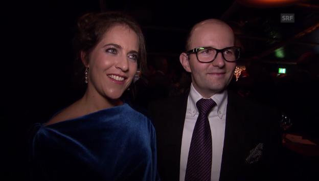 Video «Manuela Pesko zum ersten Mal als Ehefrau» abspielen