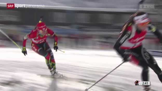 Video «Biathlon: 10 Km Verfolgung in Hochfilzen» abspielen
