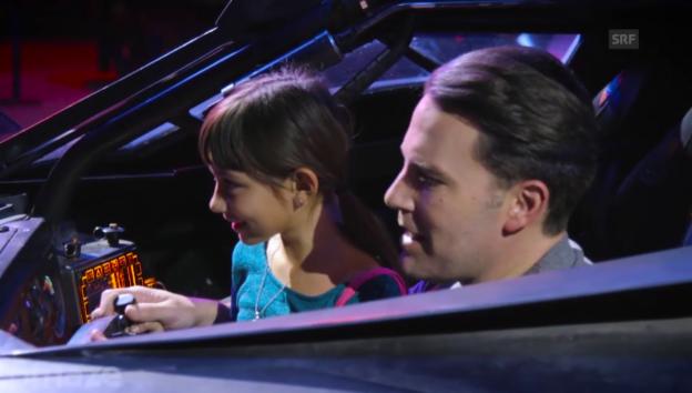 Video «Ben Affleck im «Batmobil»» abspielen