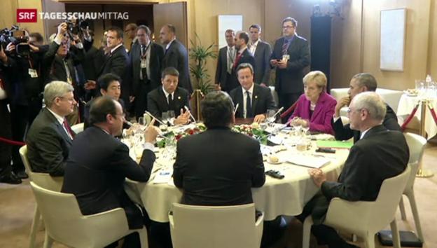 Video «G7 bleiben bei Sanktionen gegen Russland» abspielen