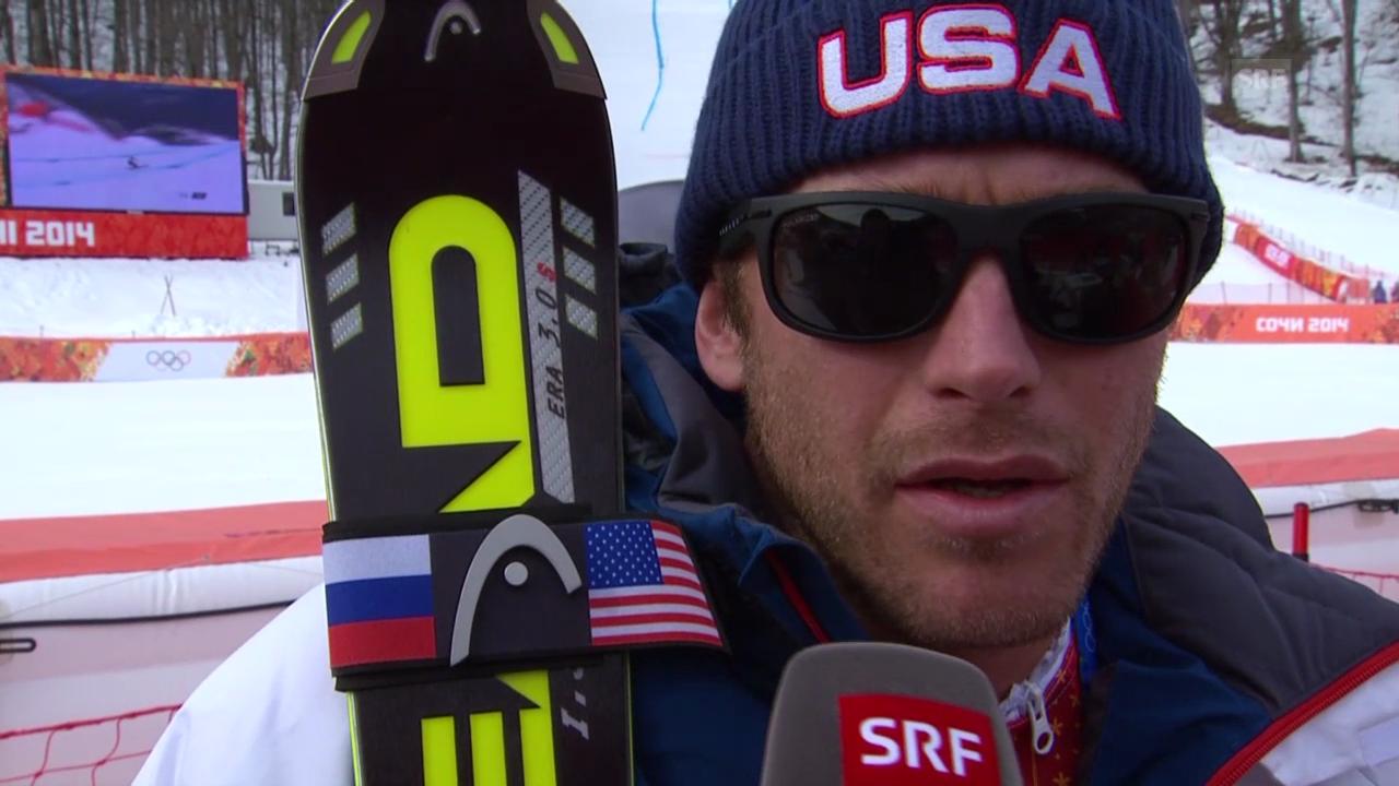 Sotschi: Ski, Abfahrt Männer, Interview Miller