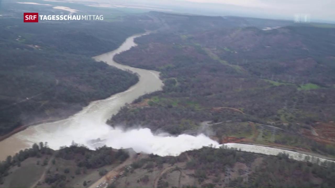 Oroville-Stausee: Gefahr noch nicht gebannt