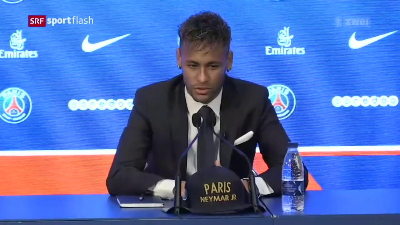Die Vorstellung von Neymar in Paris