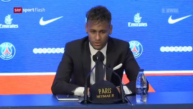 Video «Die Vorstellung von Neymar in Paris» abspielen