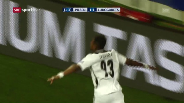 Video «Trotz zweimaliger Führung: Pilsen scheitert an Ludogorets» abspielen