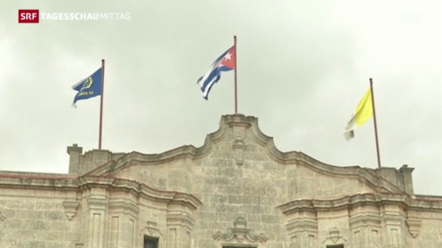 Video «Historisches Treffen zwischen zwei Kirchenoberhäuptern» abspielen