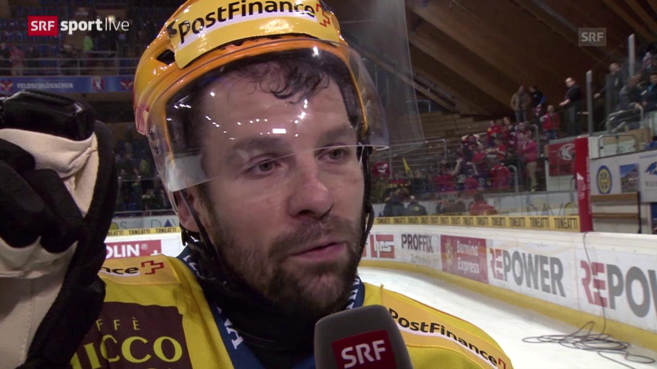 Eishockey: Playoffs, 4. Halbfinal, HC Davos – SC Bern, Interview Martin Plüss
