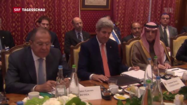Video «Keine Ergebnisse bei Syrien-Treffen in Lausanne» abspielen