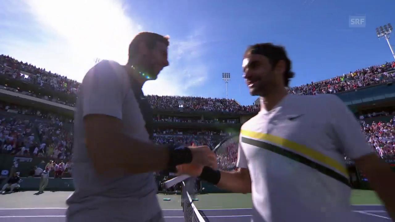 Federer unterliegt Del Potro in denkwürdigem Final