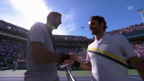 Link öffnet eine Lightbox. Video Federer unterliegt Del Potro in denkwürdigem Final abspielen