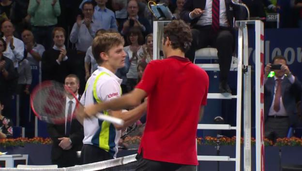 Video «Tennis: Swiss-Indoors-Final, Live-Highlights Federer - Goffin» abspielen
