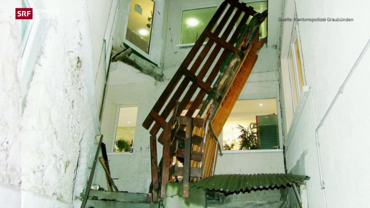 Verbindungsbrücke in Aroser Hotel eingestürzt