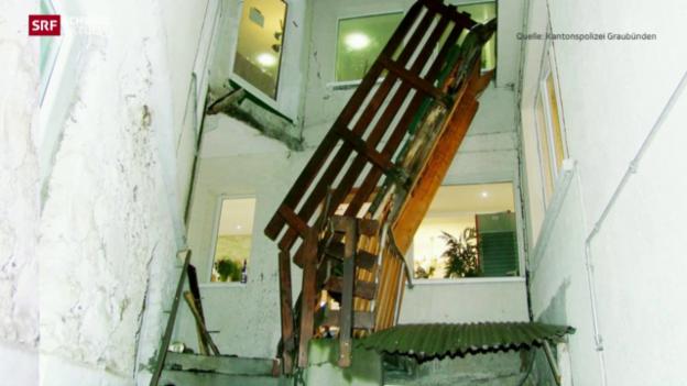 Video «Verbindungsbrücke in Aroser Hotel eingestürzt» abspielen