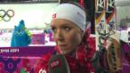 Video «Biathlon: Sprint 7,5km Frauen, Interview Selina Gasparin (sotschi direkt, 9.2.2014)» abspielen