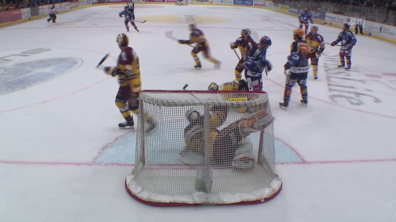 Eishockey: NLA, Playoff Halbfinal, 3. Runde, ZSC - Genf, Lattentreffer Shannon