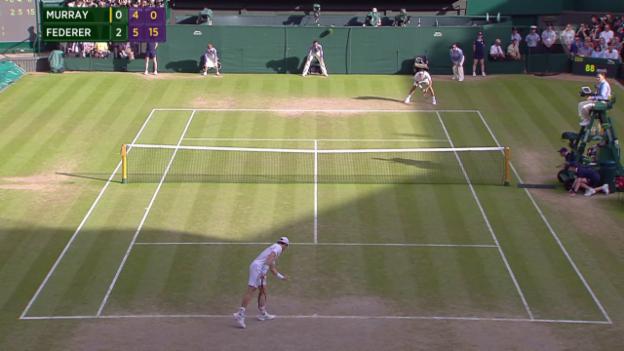 Video «Tennis: Wimbledon, Federers unglaublicher Passierball» abspielen