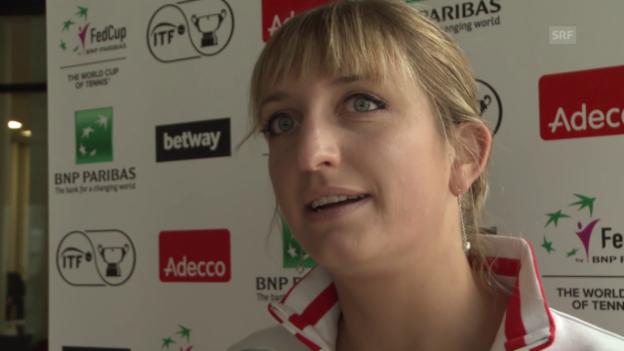 Video «Interview mit Timea Bacsinszky vor dem Fed-Cup-Duell gegen Deutschland» abspielen