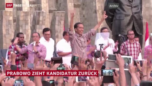 Video «Wahl in Indonesien: Ein Kandidat zieht zurück» abspielen