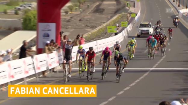 Video «Rad: Fabian Cancellara mit erstem Saisonsieg» abspielen