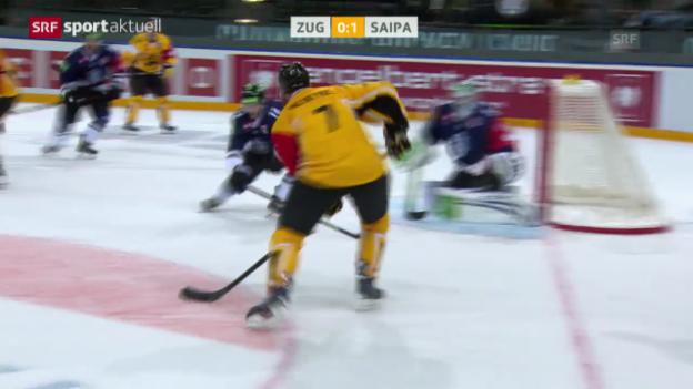 Video «Eishockey: CHL, Zug - Lappeenranta («sportaktuell»)» abspielen
