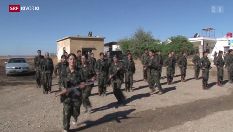Kurdische Kämpferinnen aus der Schweiz
