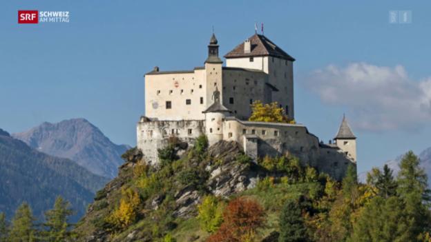 Video «Künstler kann Schloss Tarasp im Engadin kaufen» abspielen