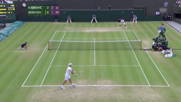 Video «Djokovic - Berdych («sportaktuell»)» abspielen