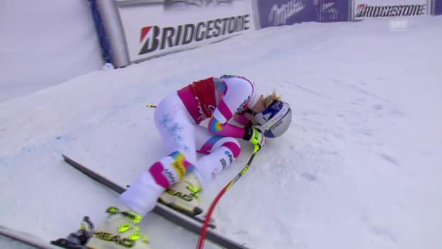 Video «Ski Alpin: Abfahrt Cortina, Fahrt Vonn» abspielen