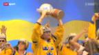 Video «Eishockey-WM: Schwedischer Jubel in Stockholm» abspielen