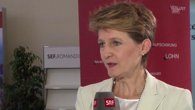 """Video «Bundespräsidentin Sommaruga: """"Der Bundesrat hat einen klaren Auftrag""""» abspielen"""