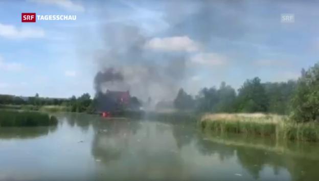 Laschar ir video «Jet der Patrouille Suisse abgestürzt («Tagesschau»)»
