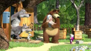 Video «Masha und der Bär (35): Blödsinn mache» abspielen