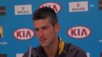 Video «Australian Open: Djokovic Medienkonferenz» abspielen