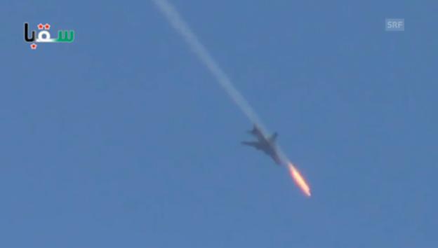 Video «Syrische Luftwaffe schiesst weiter (unkomm.)» abspielen