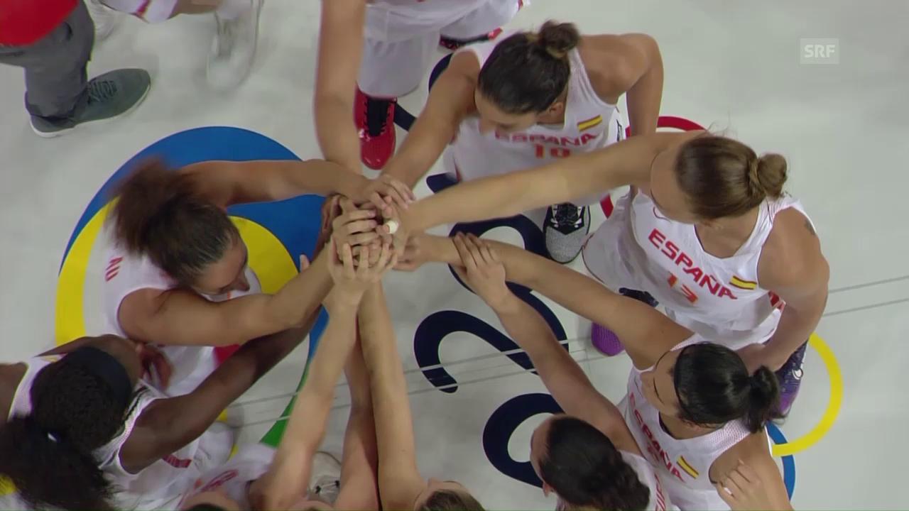 Die Spanierinnen gewinnen den Halbfinal gegen die Serbinnen