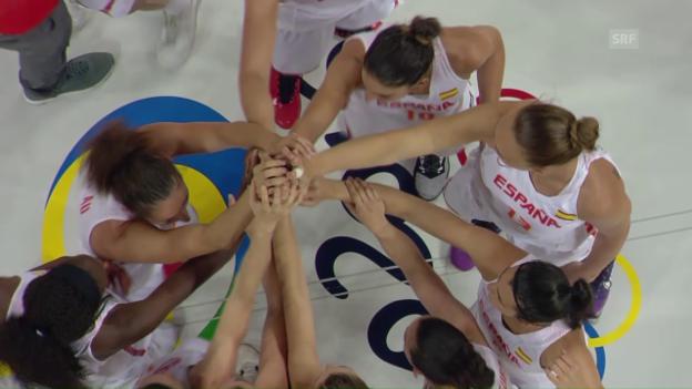 Video «Die Spanierinnen gewinnen den Halbfinal gegen die Serbinnen» abspielen