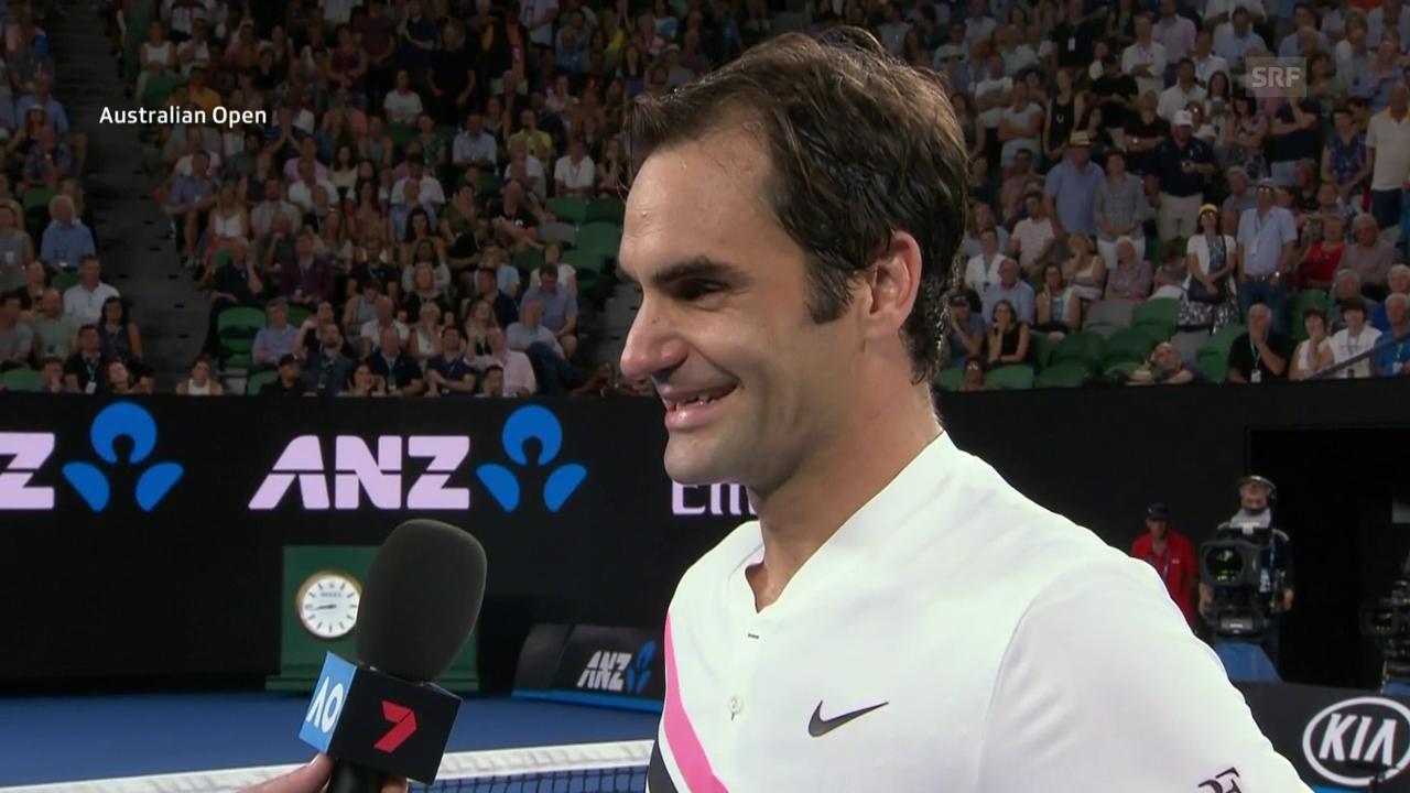 Das Platz-Interview mit Roger Federer (engl.)