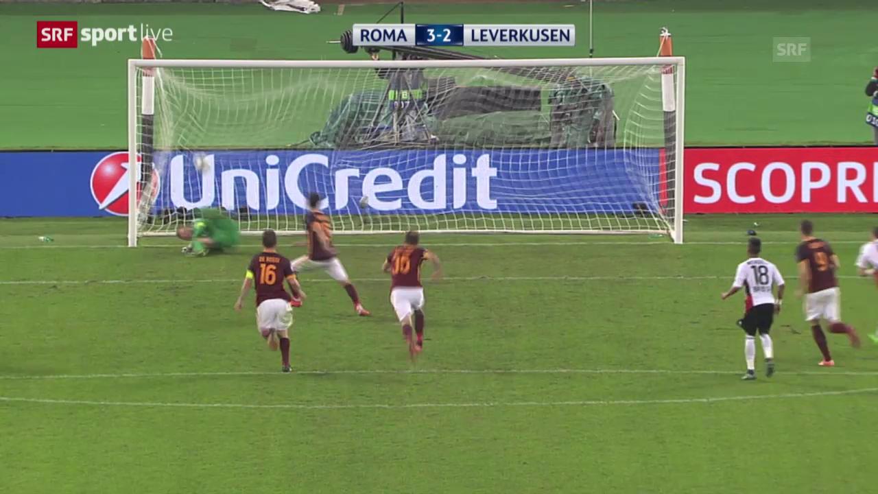 Fussball: Champions League, Zusammenfassung AS Roma - Leverkusen