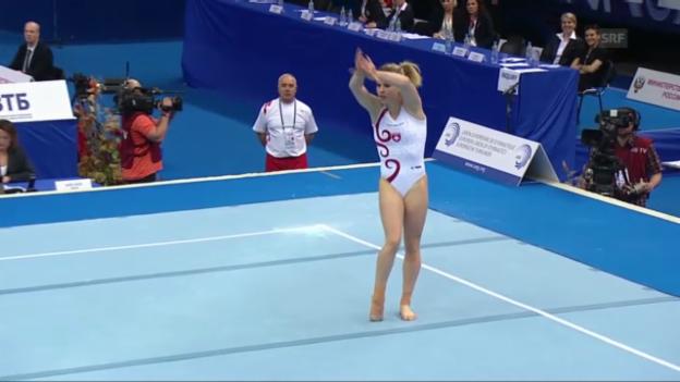 Video «EM Moskau: Boden-Final Giulia Steingruber» abspielen