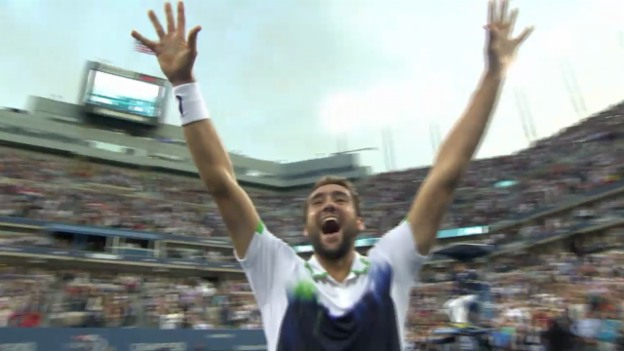 Video «Tennis: US Open, Highlights aus dem Final Cilic-Nishikori» abspielen