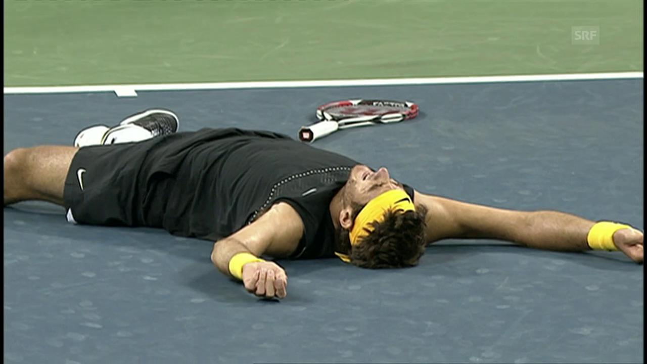 Del Potro bezwingt Federer im US-Open-Final 2009