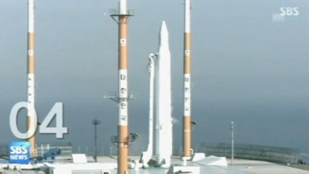 Video «Südkorea schiesst Satellit ins All» abspielen