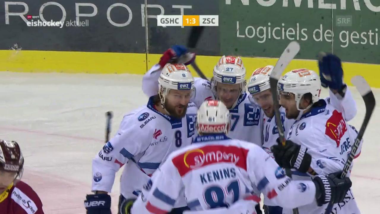 ZSC Lions gewinnen gegen Genf auswärts 4:1