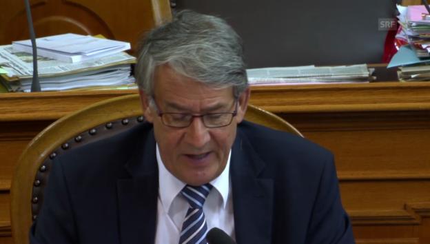 Video «Ständerat Schwaller (CVP/FR) kritisiert den Steuerabzug» abspielen